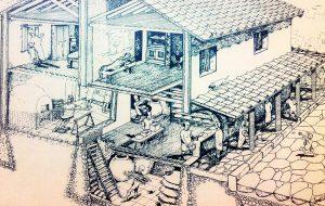Ricostruzione della Mansio di Baccano