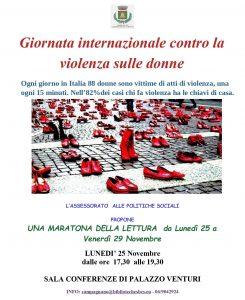 Giornata Internazionale contro al violenza sulle donne